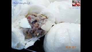 BÁNH BAO - Bí quyết để làm Bánh Bao Bột đa dụng nhân Thịt, vỏ Bánh trắng và xốp mềm by Vanh Khuyen
