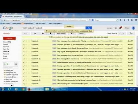 deleate bulk mail ( same address )- gmail & stop spam mails from facebook