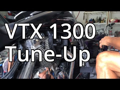 How To: Honda VTX 1300 Tune Up ,Spark Plugs And Air Filter