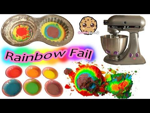 Giant Rainbow Cupcake Fail - Baking My Little Pony Rainbow Dash Birthday Cake
