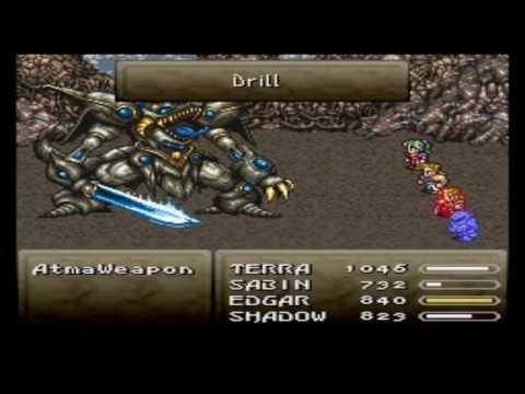 Final Fantasy VI Hack Atma Weapon Super Nintendo #2