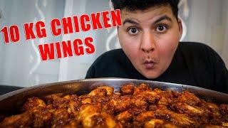 🍗 Wir haben 10 KG CHICKEN WINGS gemacht und gegessen 😍