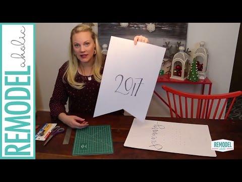 Great Free Gift idea; DIY Printable 2017 Wall Calendar