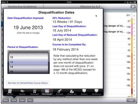 8 Driver Disqualification Dates