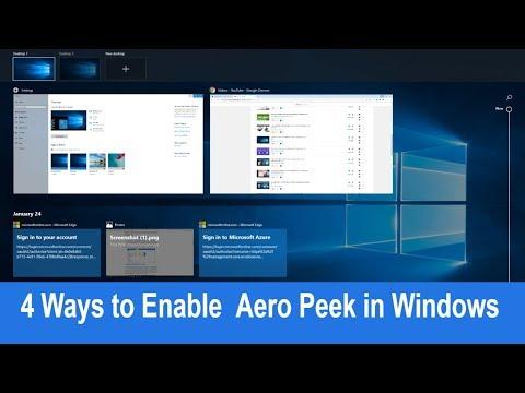 4 Ways to Enable or Disable Aero Peek in Windows 10 /8 / 7
