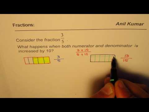 Change in the Fraction when Numerator and Denominator is increased by 10
