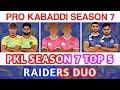 Pro Kabaddi Season 7 Top 5 Raiders Duo