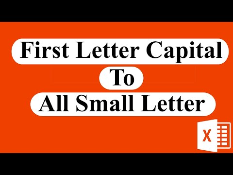 How to change proper case letter to lowercase In excel