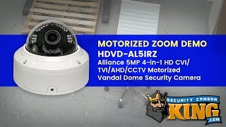 Motorized Zoom Demo - Hdvd-al5irz - Alliance 5mp 4-in-1 Motorized Vandal Dome Security Camera