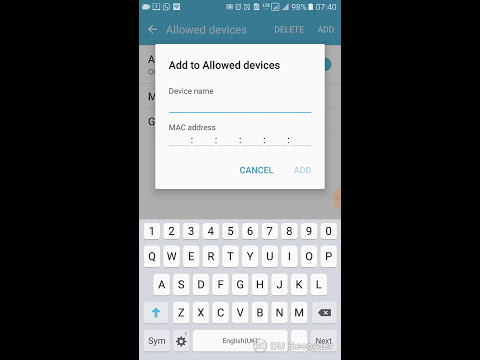 Where to find MAC address and device name to connect to the hotspot on Samsung J7,J7 prime,and edge