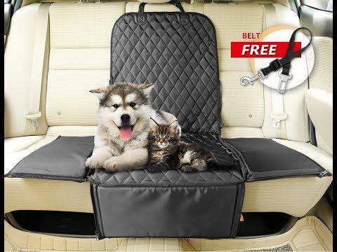 C&D 3 in 1 Waterproof Pet Front Seat Cover