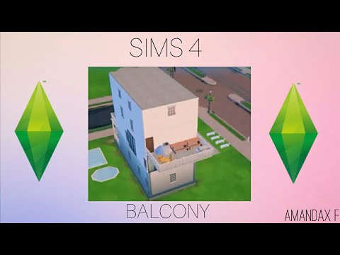 How to make a balcony | The Sims 4