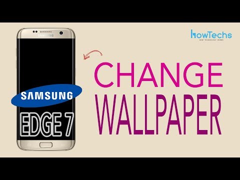 Samsung Galaxy Edge 7 - How to change Wallpaper, Themes, Icons
