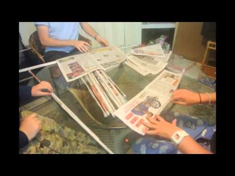 how to make a newspaper tower