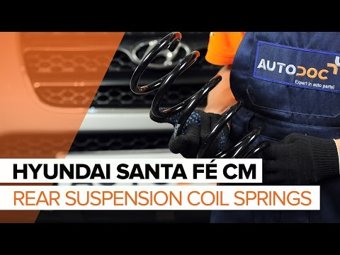 How to replace Rear Springs on HYUNDAI SANTA FÉ CM TUTORIAL | AUTODOC