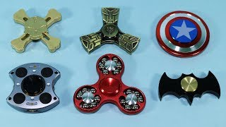 Awesome Fidget Spinners! Batman, Captain America, Transformers, Skull, Controller Hand Spinners!