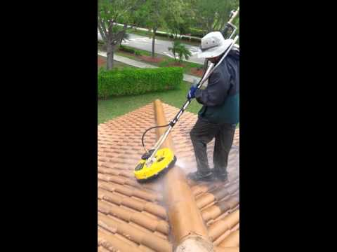 How to clean the border on tile roof