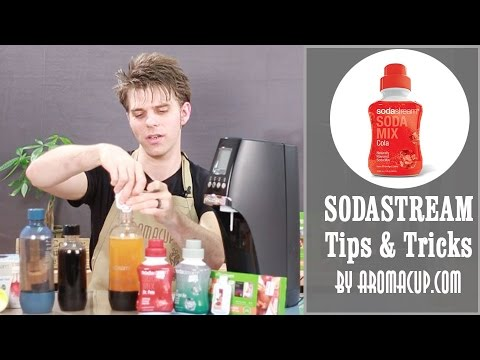 Sodastream Tips: How to use SodaMix Flavors (syrups)