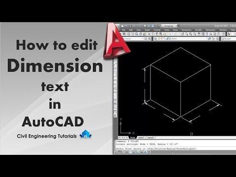 AutoCAD #1 - How to Edit Dimension Text | AutoCAD Basics