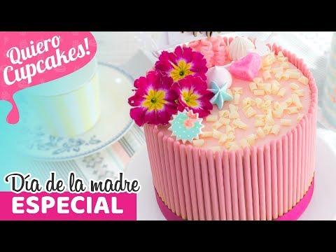 PASTEL DE POCKYS CON FRAMBUESAS | DÍA DE LA MADRE | Quiero Cupcakes!
