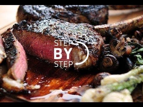 Ribeye Steak Recipe, Ribeye Steak with Red Wine Vinegar Reduction, Ribeye Cast Iron