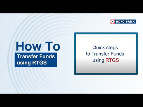 How to transfer funds using RTGS? Follow these simple steps. HDFC Bank, India's no. 1 bank*