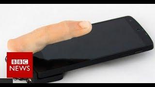 Feely finger phone crawls across desk - BBC News