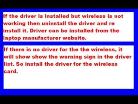 How to solve Laptop Wireless Problem