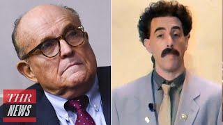 Borat Releases Message of Support for Rudy Giuliani   THR News