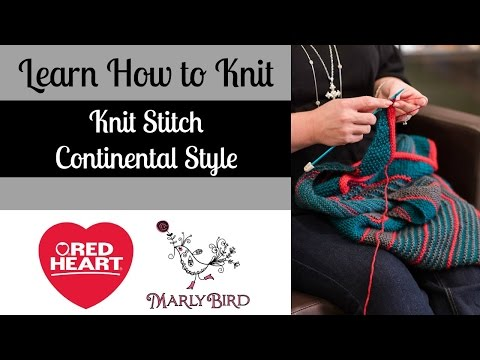 Learn how to Knit Stitch Continental Style