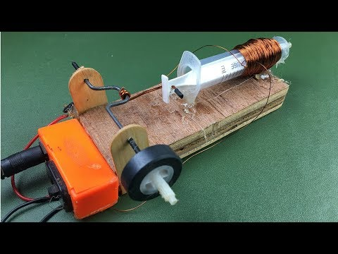 Easy Experiment Science Project Electric Motor - How To Make Solenoid Engine