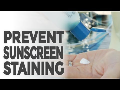 Help Prevent Sunscreen Staining