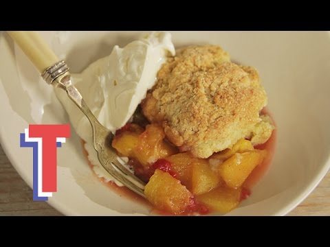 Peach and Raspberry Cobbler | We Heart Food 2
