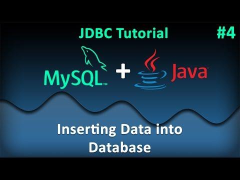 JDBC Tutorial for Beginners #4 : Inserting Data into MySQL Database