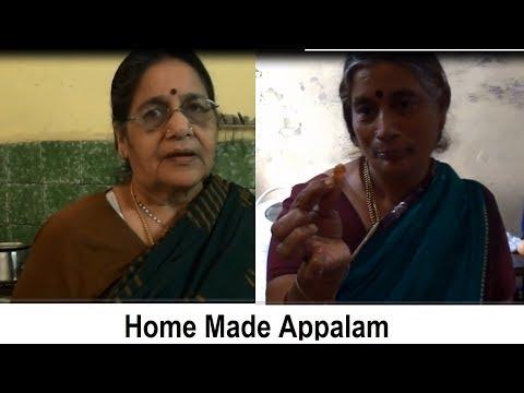 Homemade Appalam