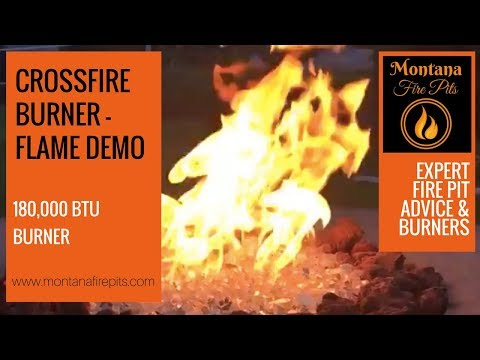 180,000 BTU Crossfire Flame Demo - Montana Fire Pits