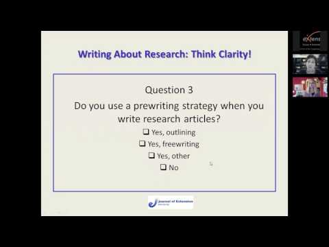 Writing About Research: Think Clarity!