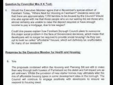 151217 Full Council - Housing Waiting List