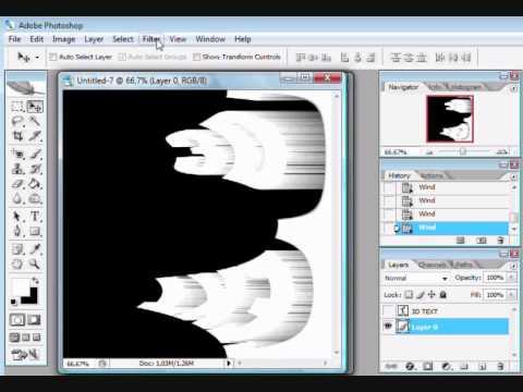 Photoshop CS2 -  3D Text Tutorial
