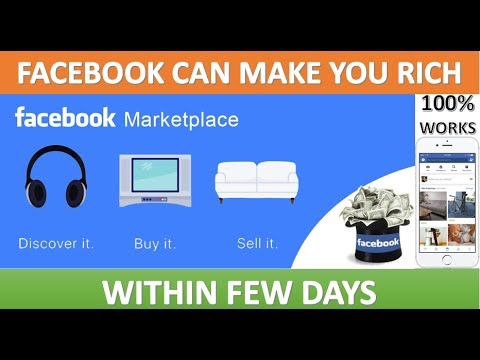 FACEBOOK MARKETPLACE. NEW FEATURE THAT CAN MAKE YOU RICH. EASY MONEY BUT WITH HARD WORK