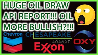 HUGE OIL DRAW REPORT! CRUDE OIL PRICES TO SOAR FROM NEWS?(OXY,XOM,CVX,CHK)🚨OIL STOCKS LIVE ANALYSIS🎯