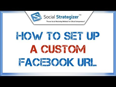 How To Set Up A Custom Facebook URL - Facebook Vanity URL