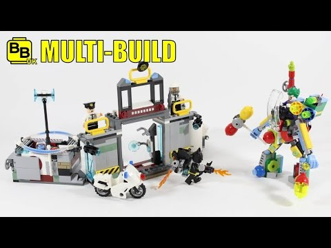LEGO BATMAN MOVIE 70900 & 70901 & 70910 MULTI-BUILD MECH MAYHEM