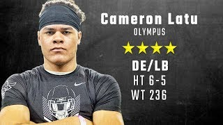 Cameron Latu highlights | Alabama 4-star signee from Olympus