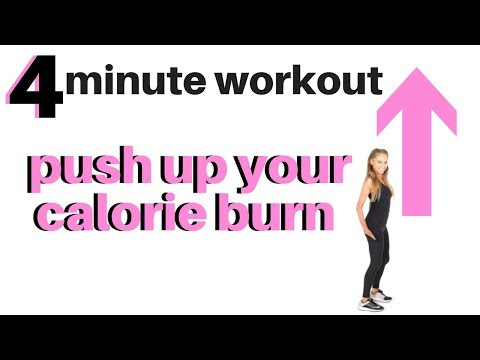 4-Minute Fat Burning Workout - Speed Up Your Calorie Burn - Melt off belly fat with Tabata Exercise