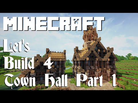 Minecraft Let's Build 4: Viking Town Hall (Part 1)