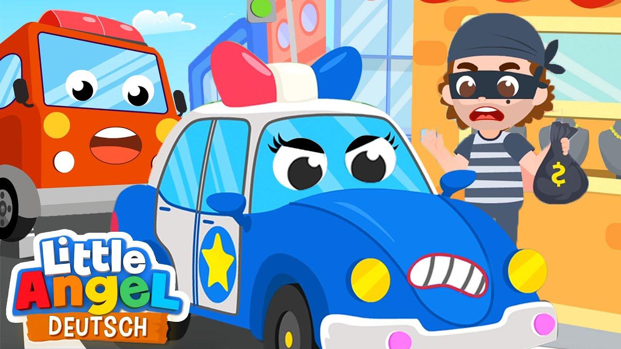 Polizeiauto oder Feuerwehrwagen? | Tatü tata  zum Einsatz | Little Angel Deutsch