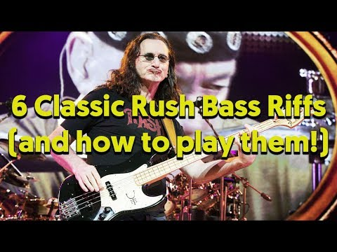 Top 6 Geddy Lee Bass Riffs Lesson