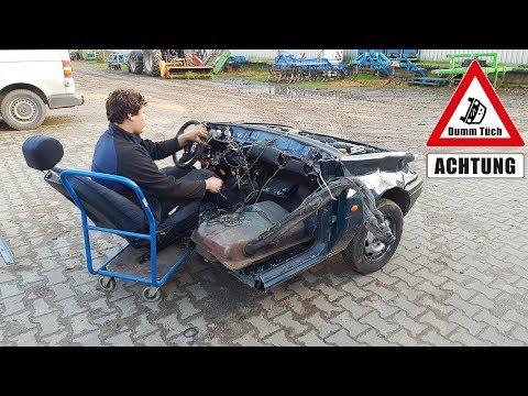 Kürzestes Cabrio der Welt ?   Dumm Tüch