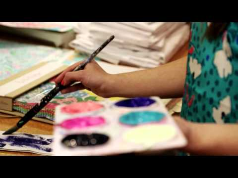Lilly Pulitzer Making of a Print: Hearts a Flutter